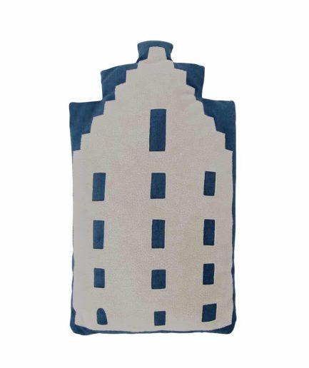 Baby pillow – Amsterdam trapgevel – navy blue – souvenir / gift