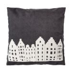 BIG LOUNGE PILLOW – AMSTERDAM – DARK_GREY/VANILLA – SOUVENIR / GIFT