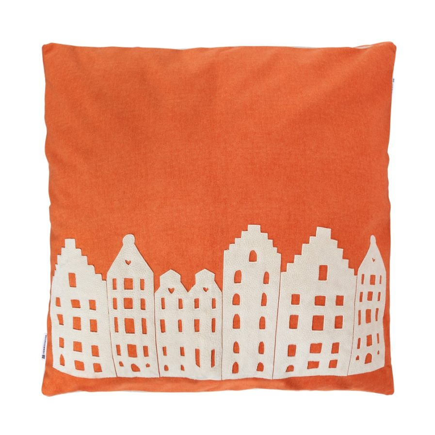 BIG LOUNGE PILLOW – AMSTERDAM – ORANGE/VANILLA – SOUVENIR / GIFT