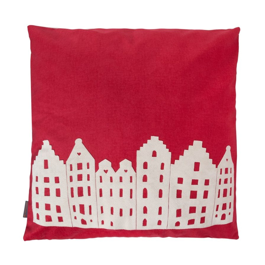 BIG LOUNGE PILLOW – AMSTERDAM – RED/VANILLA – SOUVENIR / GIFT