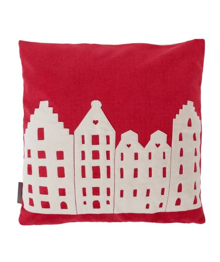 PILLOW – AMSTERDAM – RED/VANILLA – SOUVENIR / GIFT