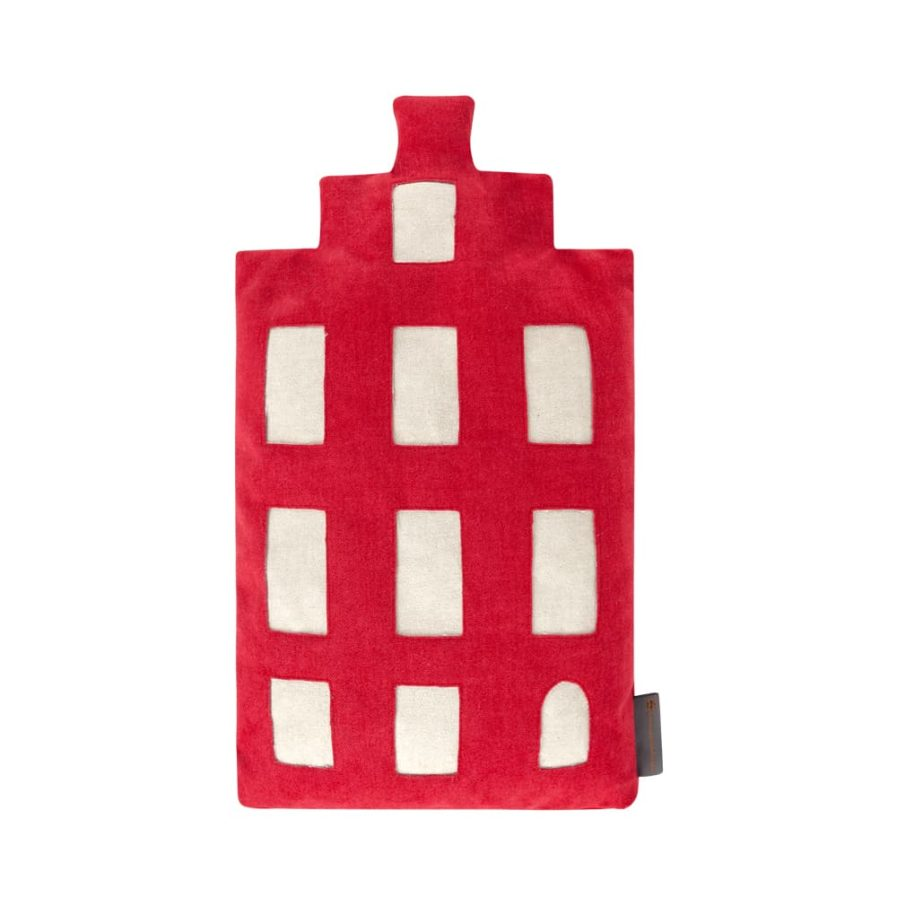 Baby pillow - Amsterdam trapgevel - red - souvenir/gift