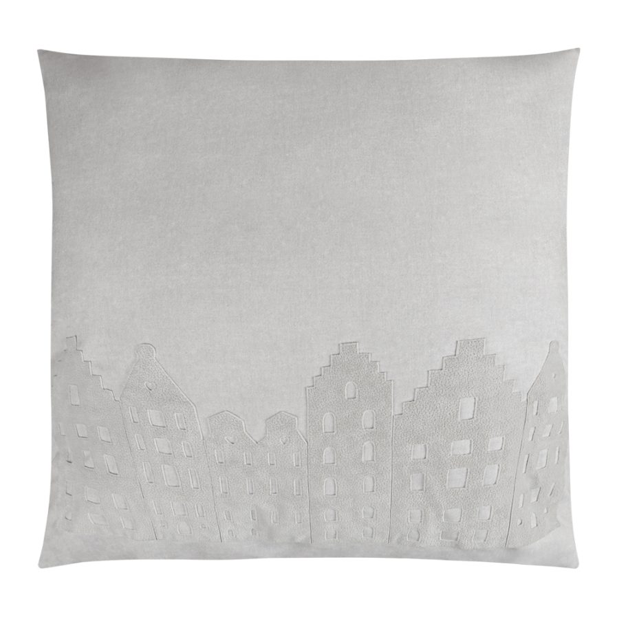 BIG LOUNGE PILLOW - AMSTERDAM - GREY PEARL/GREY - SOUVENIR / GIFT