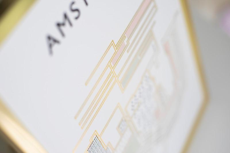 AMSTERDAM LETTERPRESS WALL ART - SOUVENIR / GIFT