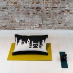 The London city pillow is a timeless home deco item