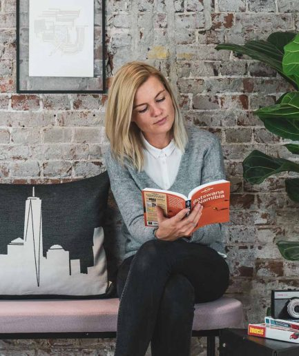 The New York City Pillow is a timeless interior deco item