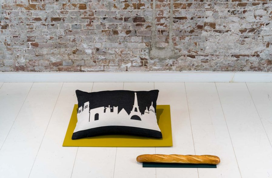 Paris architecture is the source of inspiration for the Paris City Pillow design