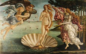The birth of Venus by Sandro Botticelli made a big impression on Veronika