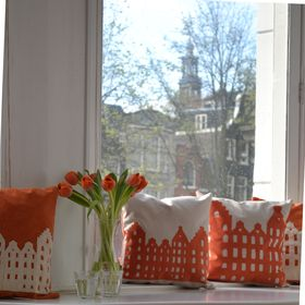 The first Amsterdam pillow, launched in 2014